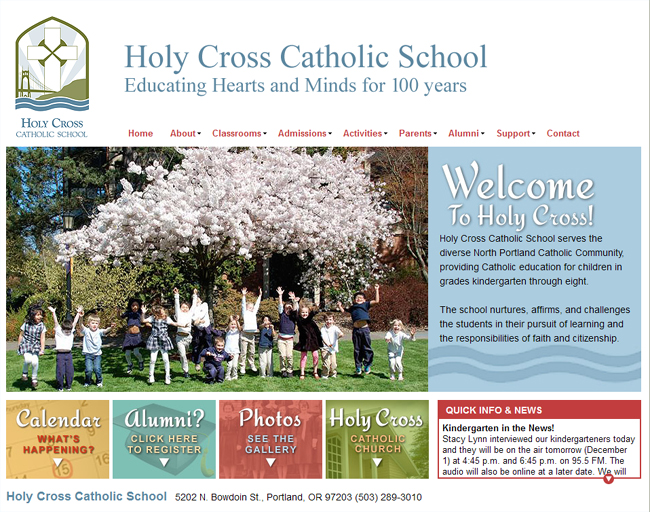 Holy Cross Catholic School in Portland, Oregon