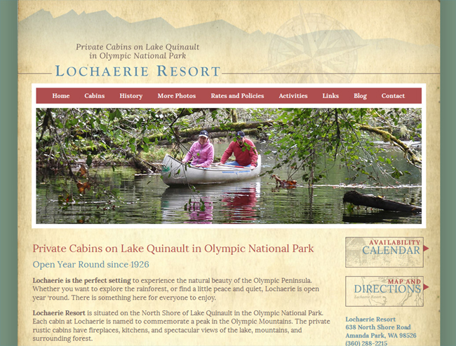 Lochaerie Resort, Cabins on the Olympic Peninsula