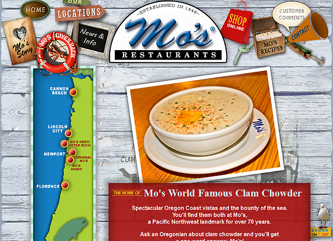 Mo's Restaurants, Home of Mo's World Famous Clam Chowder